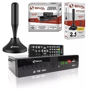 Kit Conversor Digital Sinal Sc-4000 + Antena Interna Hdtv
