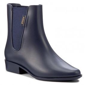 Bota Galocha Cano Curto Zaxy London Boot Ii - Azul