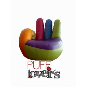 Puff Lovers Envío Gratis Sillón De Mano T Marca Con Corazón