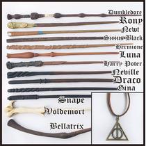 Kit Com 3 Varinhas Harry Potter + 1 Colar E Frete Grátis