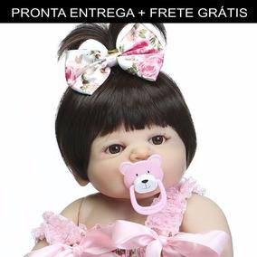 Bebe Reborn Silicone Barato Menina Victoria Pronta Entrega