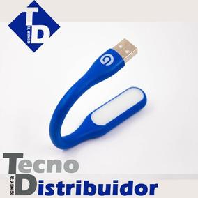 Mini Lampara Led Marca Gio Usb, Portatil Flexible Azul