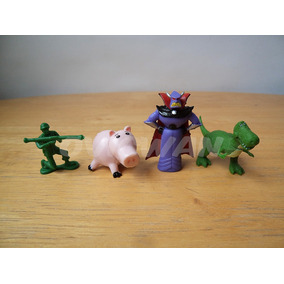 4 Mini Figuras Toy Story Huevo Tipo Kinder Ham Zurg Rex Dy59