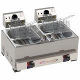 Fritadeira De 8 Litros - Conjugada Elétrica E A Gás 2 Em 1