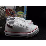Zapatos Tenis Para Bebe Unisex Color Blanco