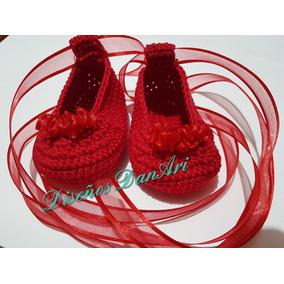 Zapatitos Tejidos A Crochet Para Bebé 100% Algodón.