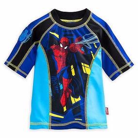 Remera De Agua Rashguard Uv50+ Disney Spider Miles Talle 4