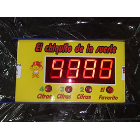 Maquina Electrónica El Chiquito De La Suerte Mostrador