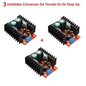 3 Unidades Conversor Step-up Regulador Tensão 150w,12v A 35v