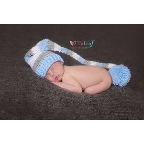 Gorro Touca Elfo Croche Ensaio Fotográfico Newborn Bebê