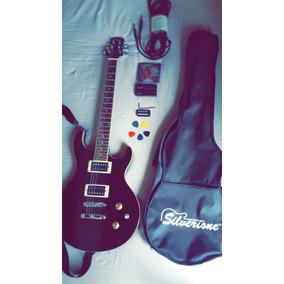 Guitarra Eléctrica Silverstone Edición Pantera Y Planta