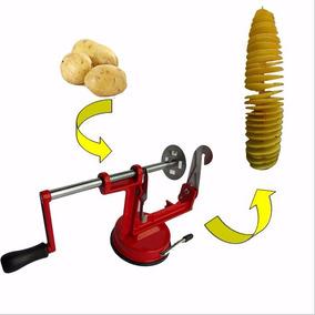 Maquina De Cortar Batatas Legumes Espiral Chips Fatiador