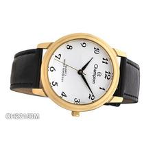 Relógio Champion Feminin Dourado Barato Wr 50m Ch22153m