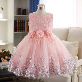 Vestido Infantil Dama Daminha Bordado Casamento Renda Luxo