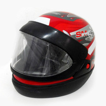 Capacete Moto Taurus San Marino Grafic Fechado Vermelho 58