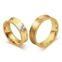 Aliança Para Casamento Noivado Bodas Banhada Ouro Prata