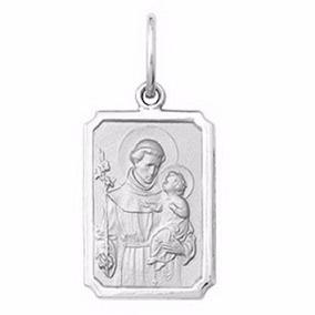 Pingente Medalha Santo Antonio Ouro 18k Frete Grátis Vj2303 - Joias ... 389e553583