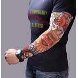 Atacado 06 Pares De Manguito Manga Tattoo Tatuagem Falsa