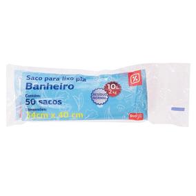 Sacos Para Pia Banheiro Dia Capacidade 2kg 10l 50un