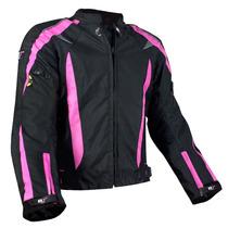 Chamarra Dama Motociclismo R7 Mod. 415 Negro/rosa Talla S