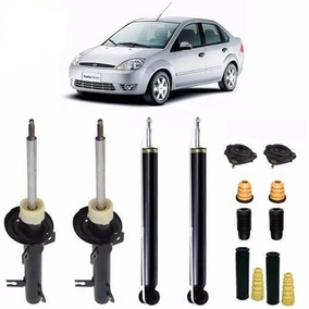 Kit 04 Amortecedor Fiesta Sedan 2006 2007 2008 + Kit Suspen