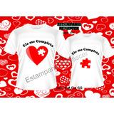 Kit- 2 Camisas,camisetas Dia Dos Namorados - Faça Já A Sua