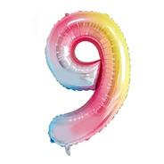Balão Metalizado Número 9 Degrade - 16  40cm - 1 Unidade - R