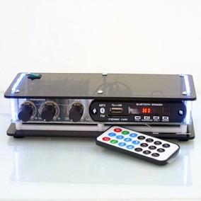 Amplificador Potencia Usb Bluetooth Caixa Som Pc Notebook