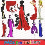 Chicas Fashion Vol.2 Set 9 Patrones Bordadoras Bastidor