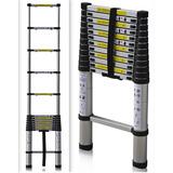 Escalera Aluminio Telescopica Extensible 10 Escalones 3.2mts
