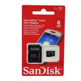Memoria Micro Sd 8gb Adaptador Sandisk