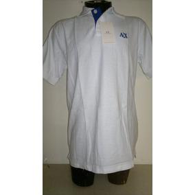 Camisa Playera Tipo Polo Armani Exchange Color Blanco Hombre