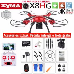 Drone Syma X8hg Fpv Câmera 4k Ultra Hd +2 Baterias Grátis