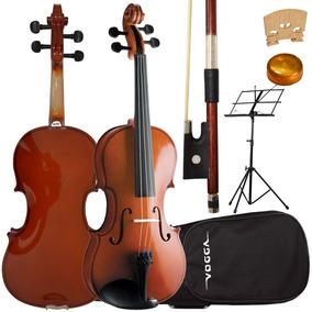 Kit Violino 4/4 Vogga Von144 Crina Animal Estojo Partitura