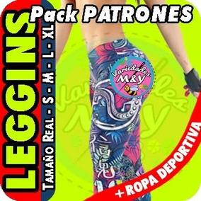 Patrones Para Elaborar Licras Lycras Leggyns Deportivas Dama