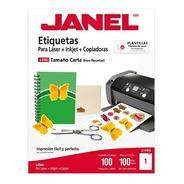 Etiqueta Janel J-5165 C/100 Cta. 21.6 X 27.09 Cm