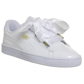 puma basket heart blanco