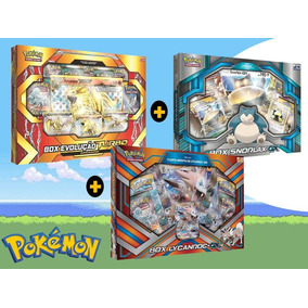 Combo Kit Cartas Pokémon Box Arcanine + Snorlax Gx +lycanroc