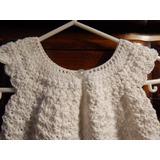 Vestido Crochet Fiesta-bautismo 6 Meses