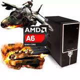 Pc Completa Amd A6-7400k Mem. Ram 8gb Hdd 500gb Dota2