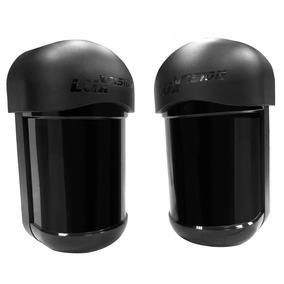 Sensor De Barreira Ativa Iva Duplo Feixe 100 Mts Luxvision