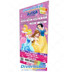 Invitación Tipo Ticket Personalizada Pack 10 Piezas