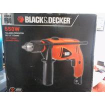 Taladro Percutor 550w, Black & Decker, Linea Pro Env Gratis