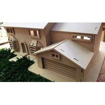 Maqueta Casa Fibro Facil Los Simpson,casita, Home.22x35x15