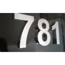 Números Letras 20 Cm Caixa Aço Inox Escovado Cortado A Laser