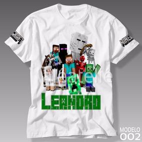 Camiseta Minecraft Turma Camisa Blusa Personalizada #02