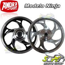 Rodas Dianteira + Traseira Mod Ninja - Cg 125 Titan Es 00/04