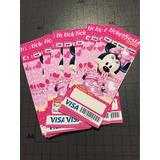 Invitaciones Personalizadas Estilo Ticket 6x14