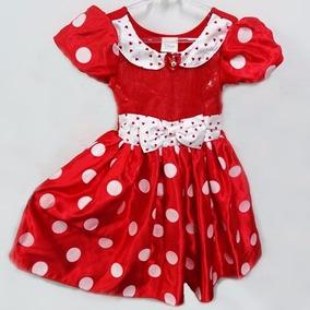 Vestido Infantil Festa Minie Vermelho Importado 5/6 Anos