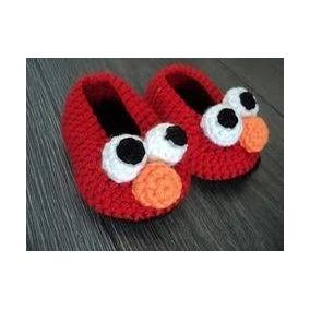 Zapatitos Tejidos - Elmo Tejido Crochet